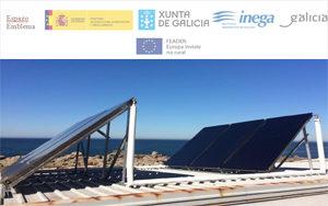Instalación placas solares en el campo de fútbol A Arlliña